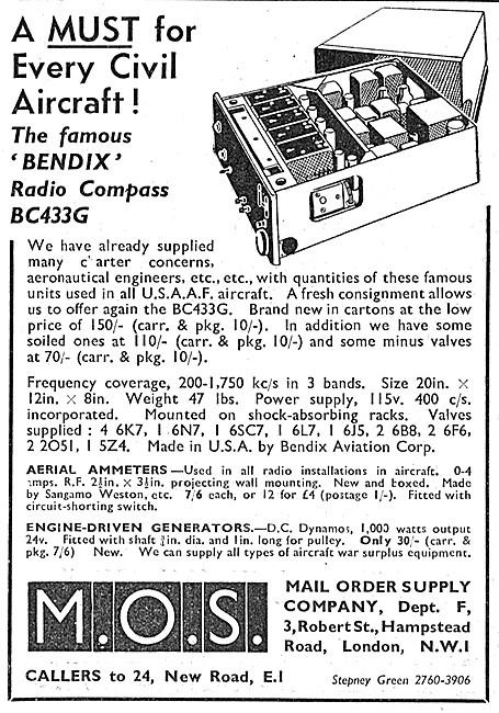 Bendix BC433G Radio Compass