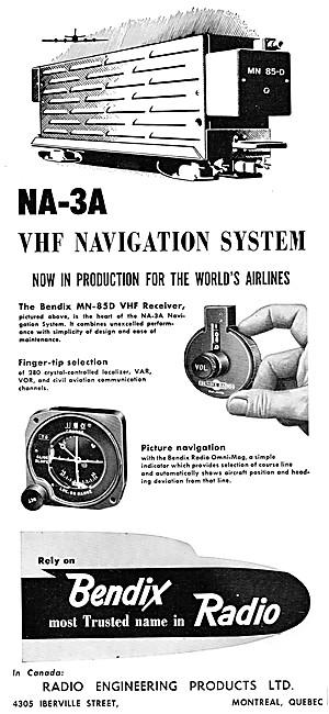 Bendix Corp : Bendix NA-3A VHF Navigation System