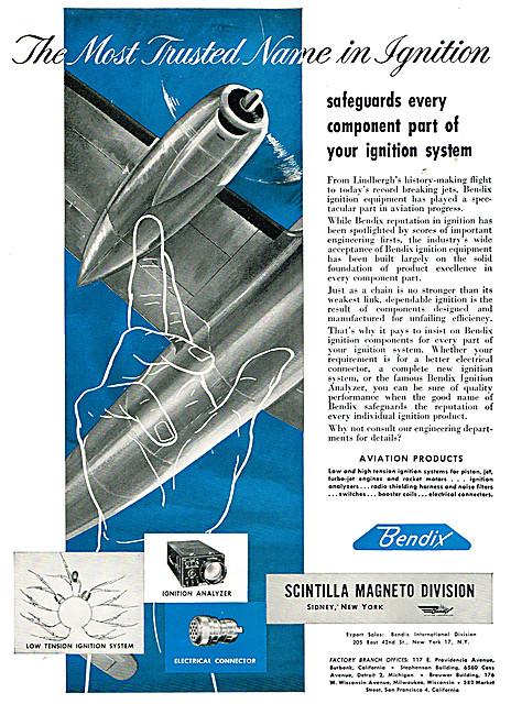 Bendix Scintilla Magnetos - Bendix Aero Engine Ignition Systems