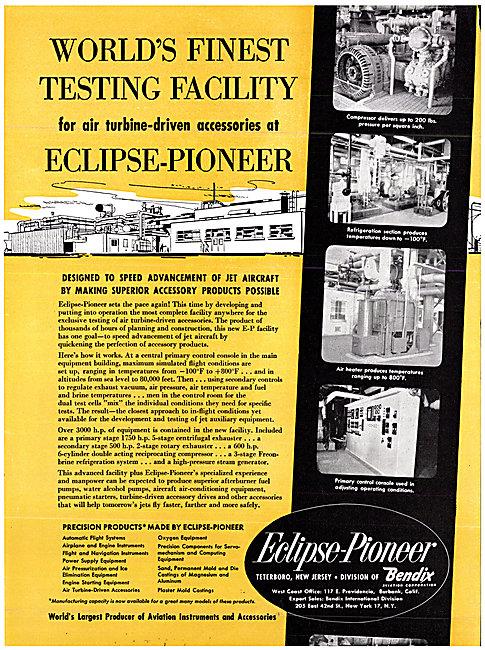 Bendix Corporation Eclipse Pioneer  Instruments & Accessories