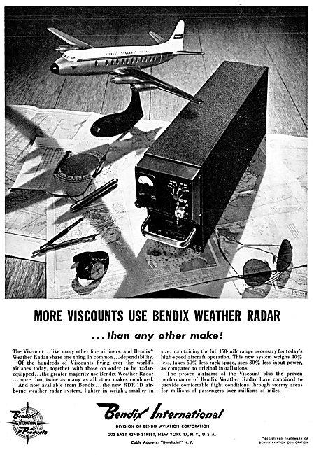 Bendix Aircraft Corp : Bendix Weather Radar 1958