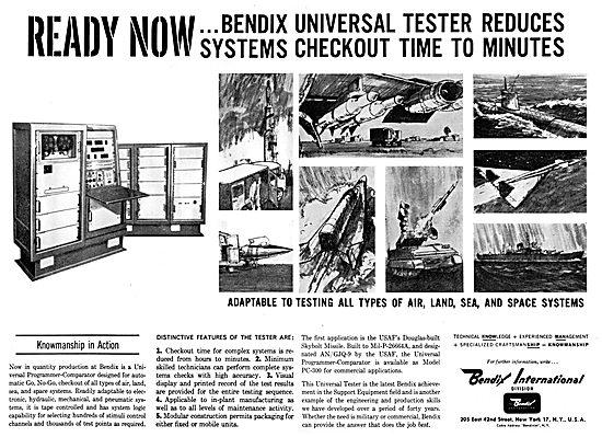 Bendix Corp : Avionics & Electronics. Missile Readiness Testing