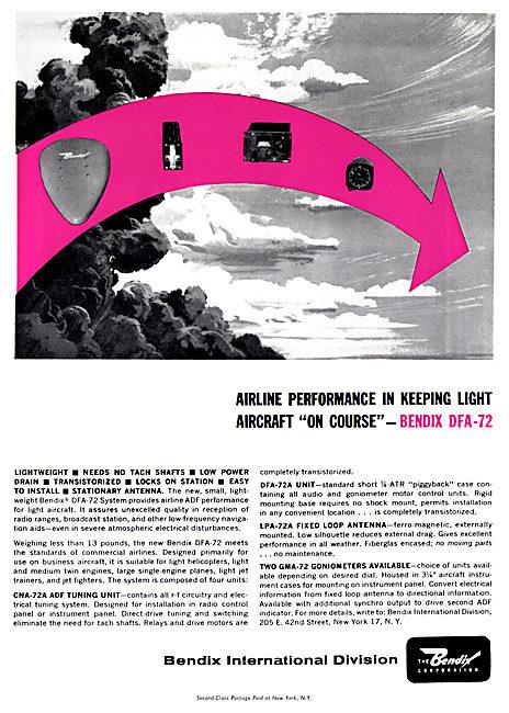 Bendix Corp : Avionics & Electronic Systems. Bendix DFA-72 ADF