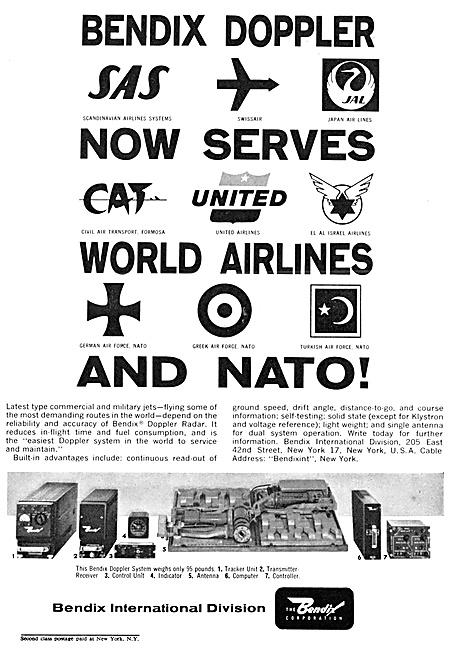 Bendix Avionics. Bendix Doppler 1962