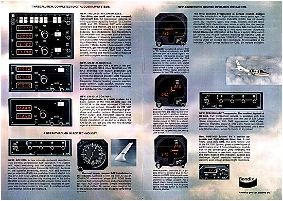 Bendix BX 2000 Digital Avionics Range 1976