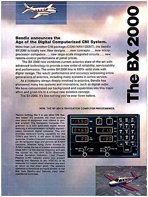 Bendix BX 2000 Avionics Range - Digital CNI System 1976