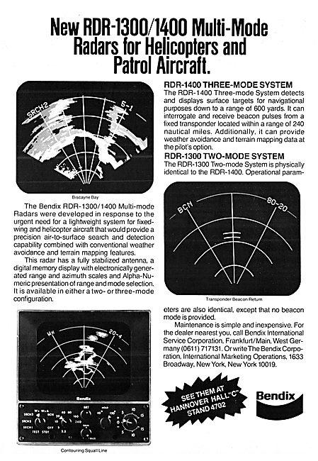 Bendix Avionics - Bendix RDR-1300 Weather Radar