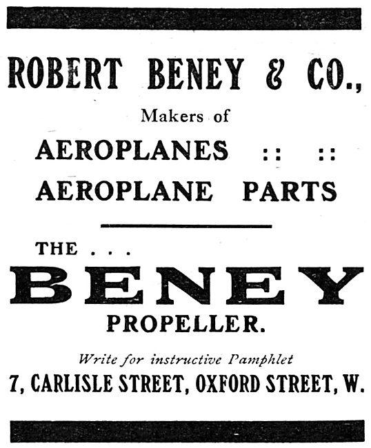 Robert Beney & Co. Aeroplanes & Aeroplane Parts