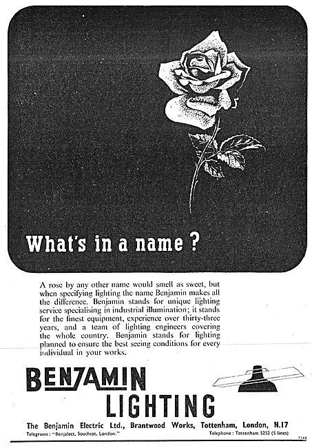 Benjamin Electric - Benjamin Factory Lighting