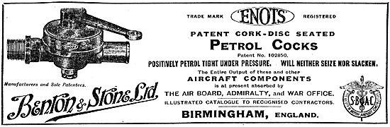 Benton & Stone - Petrol Cocks & Aircraft Components