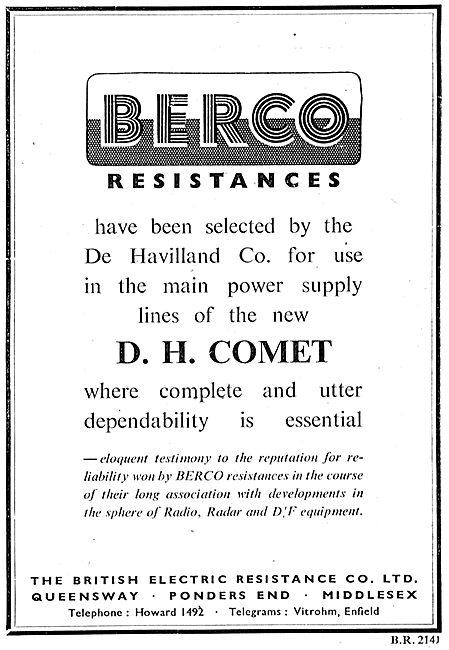 Berco Resistances & Aircraft Electrical Power Supplies