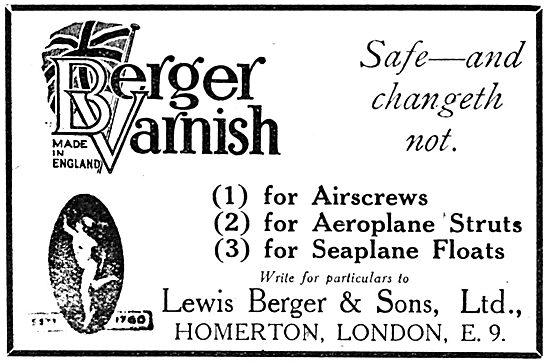 Berger Aircraft Finishes - Berger Aircraft Varnish