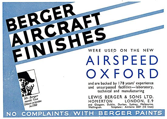 Berger Aircraft Finishes - Airspeed Oxford