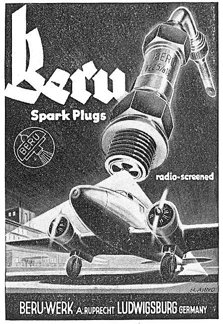Beru-Werk Spark Plugs. Ludwigsburg. Germany