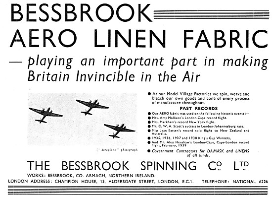 Bessbrook Spinning Aero Linen Fabric