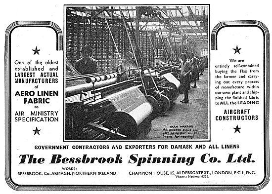 Bessbrook Spinning. Armagh. Aero Linen Fabric
