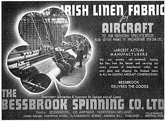 Bessbrook Spinning. Aero Linen Fabric