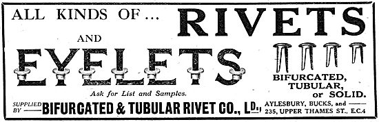 Bifurcated & Tubular Rivet. - AGS, Rivets & Eyelets
