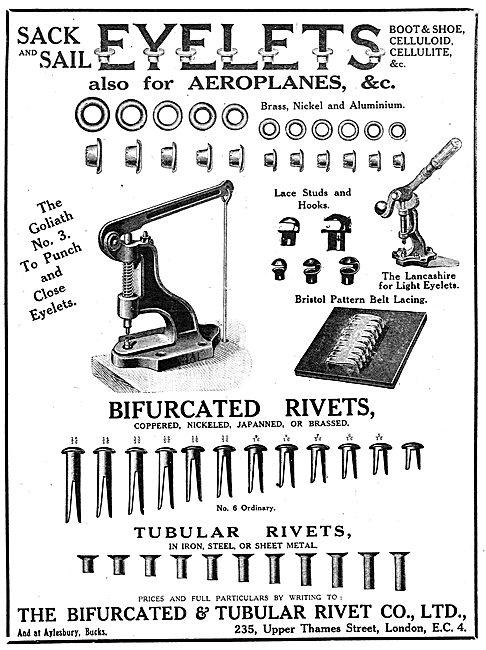 Bifurcated & Tubular Rivet. - Eyelets, Rivets & Accessories