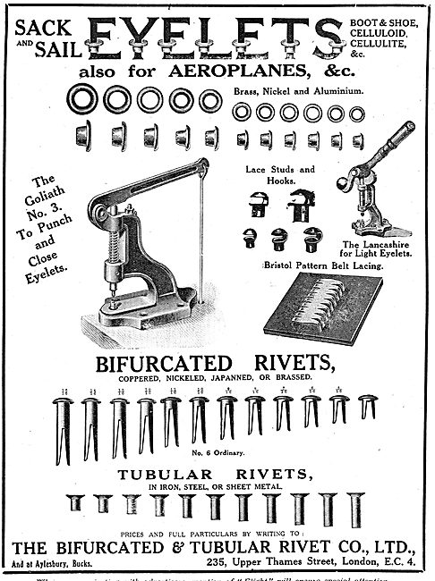 Bifurcated & Tubular Rivet Company - Rivets & Eyelets