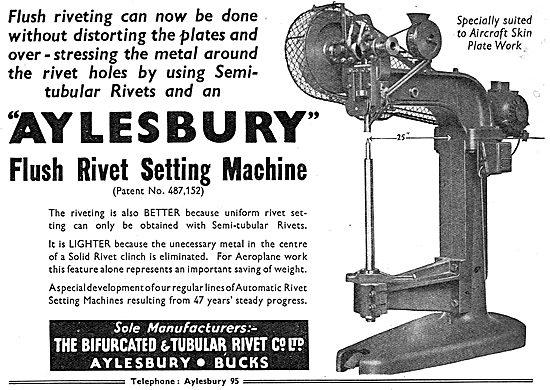 Bifurcated & Tubular Rivet. Flush Rivet Setting Machine