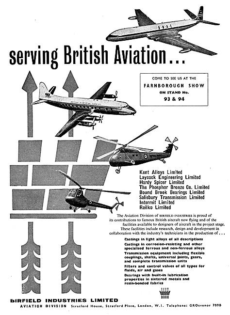 Birfield Industries Aviation Division 1959