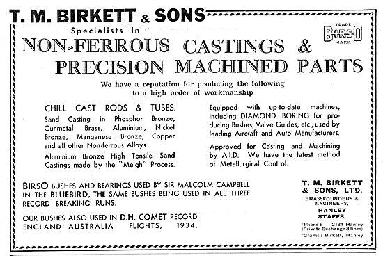 T M Birkett No Ferrous Castings & Precision Machined Parts