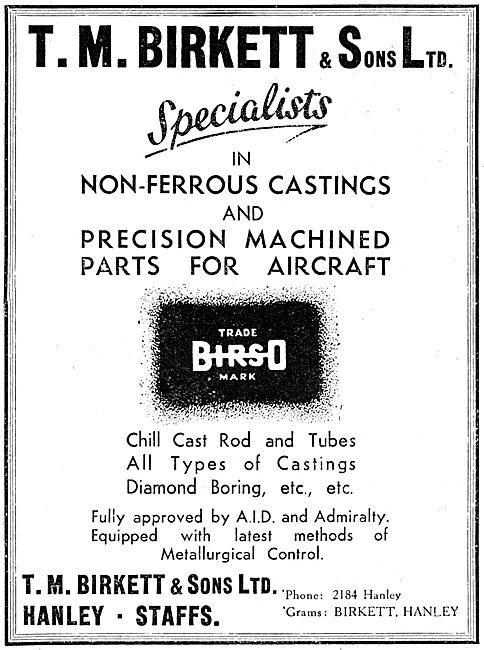 T.M.Birkett - Non-Ferrous Castings & Machining - Birso