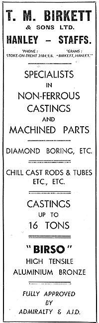 T.M.Birkett Non-Ferrous Castings 1939