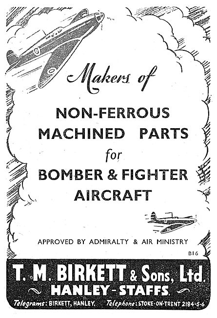 T. M.Birkett Non-Ferrous Machined Parts