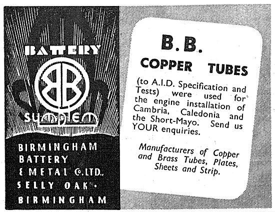 Birmingham Battery & Metal - Light Gauge Copper Tubes