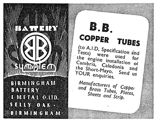 Birmingham Battery BB Copper Tubes To AID Specification
