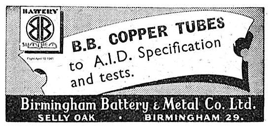 Birmingham Battery AID Spec Copper Tubes