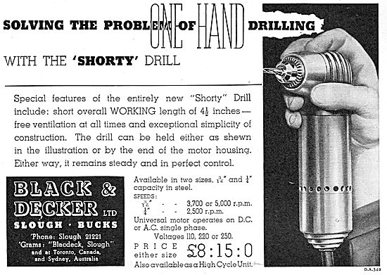 Black & Decker 'Shorty' Electric Drill