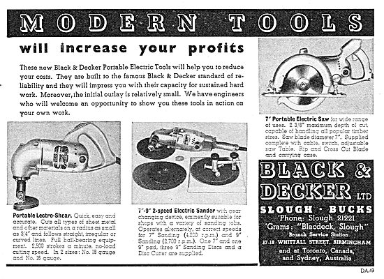 Black & Decker Portable Lectro-Shear & Sander