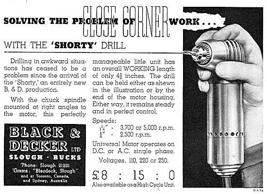 Black & Decker 'Shorty' Drill