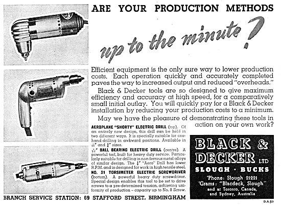 Black & Decker Electric Tools