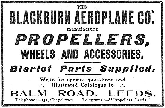 Blackburn Propellers & Bleriot Parts
