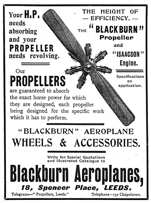 Blackburn Propellers - Aeroplanes & Accessories