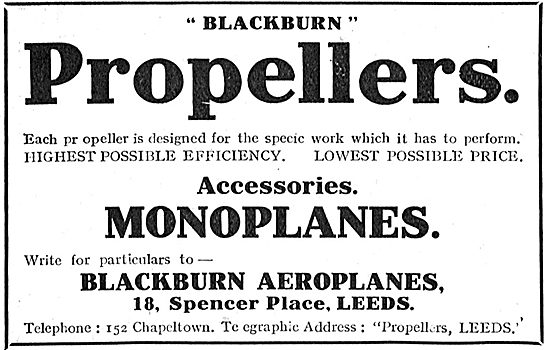 Blackburn Aeroplane Propellers Lowest Price & Highest Efficiency