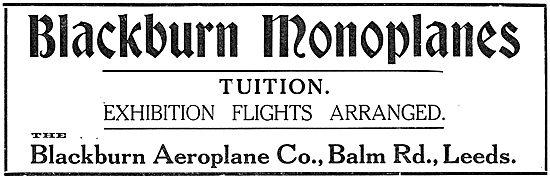 Blackburn Monoplane Aircraft And Accessories