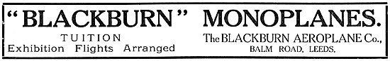 Blackburn Monoplanes - Tuition