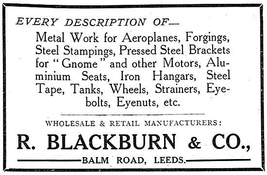 Blackburn Monoplanes And Accessories