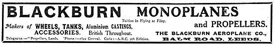 Blackburn Monoplanes