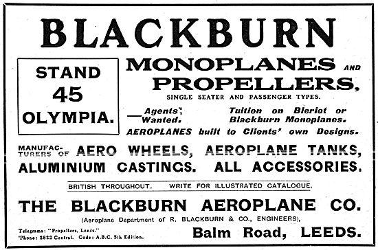 The Blackburn Aeroplane Company - Aeroplanes, Propellers & Parts