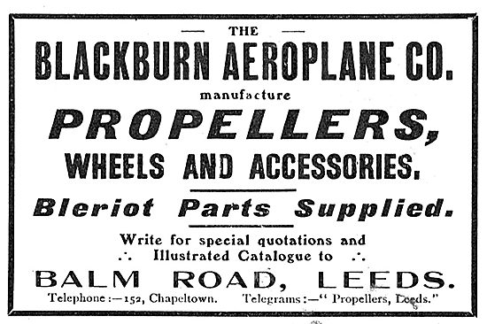 Blackburn Aeroplane Co: Balm Road Leeds