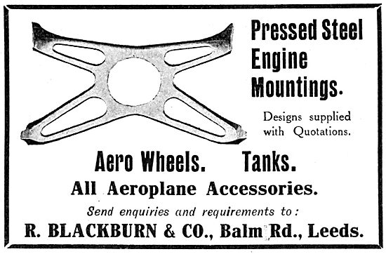 Blackburn Pressed Steel Engine Mountings