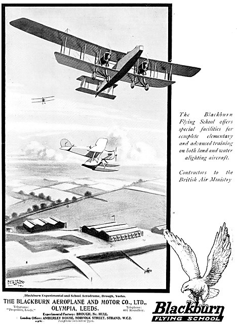 Blackburn Aircraft - Blackburn Flying School Brough 1925