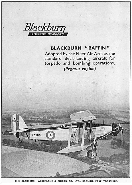 Blackburn Baffin Torpedo Bomber K3589