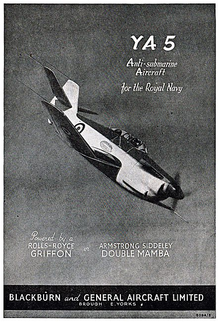 Blackburn YA5 Anti-Submarine Aircraft